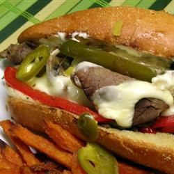 """Philly Cheesesteak Sandwich with Garlic Mayo   """"This is the best Philly sandwich ever!!! The whole family loves it!! Thanks for the awesome recipe."""""""