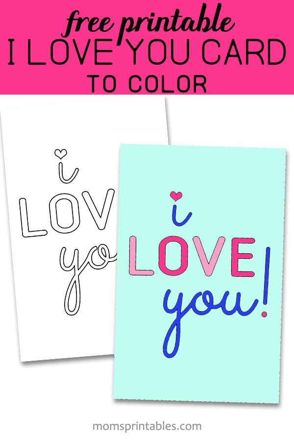 I Love You Printable Cards I Love You Printable Coloring Pages I Love You Printa Printable Note Cards Happy Birthday Cards Printable Love Cards For Husband