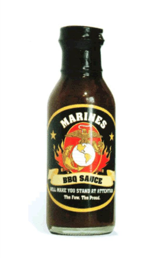 Our Marines BBQ Sauce is one in a line of unique labeled Marines consumables we're proud to offer in the EGA Shop. Each bottle comes with a beautiful label with Marines and the EGA symbol. To eat or as a novelty.