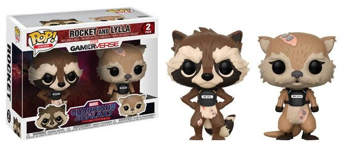 Funko POP Marvel Games: Guardians of the Galaxy The Telltale Series Rocket & Lylla 2-Pack PREORDER