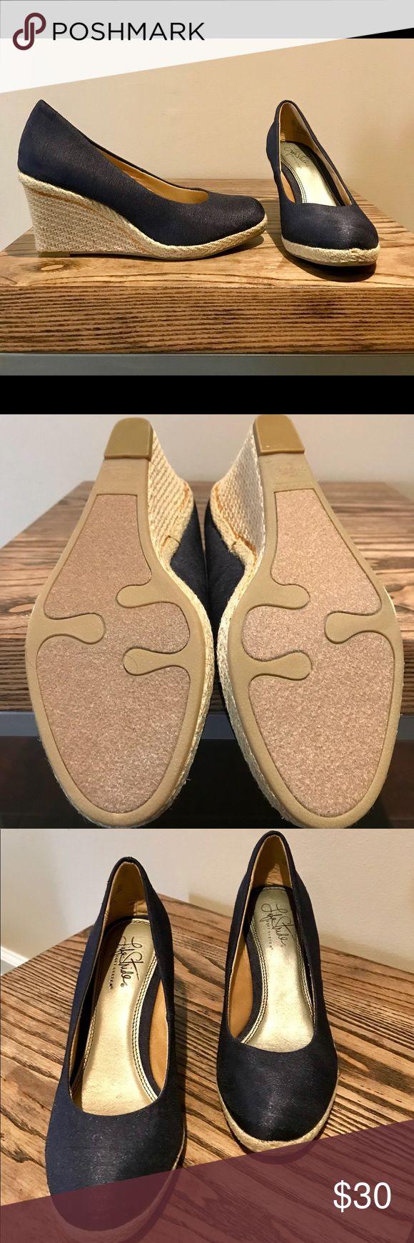 LifeStride Soft System Navy Wedge sz 6.5 LifeStride soft system Navy Wedge sz 6.5m  NWOT Life Stride Shoes Wedges