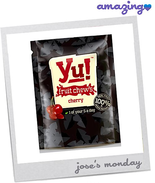 ' The Yu! Jus Fruit bite-sized chews are made of 100% real fruit and are all under 90 calories per pouch! (Our bodies thank Yu!) They come in five delectable flavours like Blackcurrant, Blueberry, Cherry, Strawberry, and Mango, which was the office favourite.'