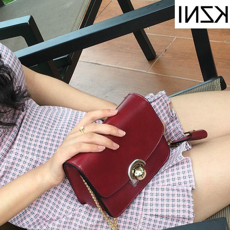 34.19$  Buy here - https://alitems.com/g/1e8d114494b01f4c715516525dc3e8/?i=5&ulp=https%3A%2F%2Fwww.aliexpress.com%2Fitem%2FKZNI-genuine-leather-women-messenger-bag-crossbody-chain-bag-leather-handbags-luxe-handtassen-vrouwen-tassen-designer%2F32786581019.html - KZNI genuine leather women messenger bag crossbody chain bag leather handbags luxe handtassen vrouwen tassen designer L010128