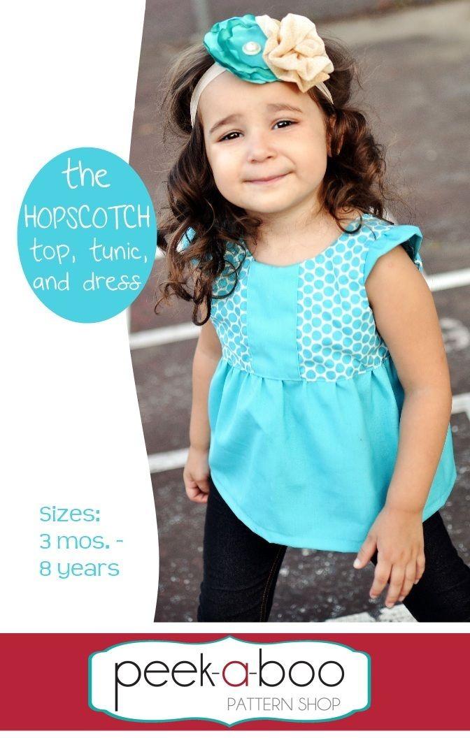 Hopscotch Top, Tunic and Dress PDF Sewing Pattern