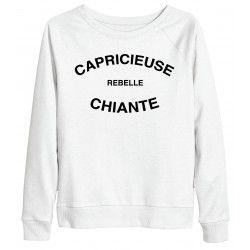 SWEAT CAPRICIEUSE REBELLE CHIANTE