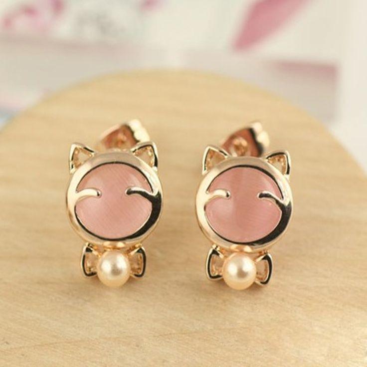 YANA Jewelry Fashion Sliver korea Pop Pear Cat Stud Earrings For Woman 2015 New♦️ B E S T Online Marketplace - SaleVenue ♦️ http://www.salevenue.co.uk/products/yana-jewelry-fashion-sliver-korea-pop-pear-cat-stud-earrings-for-woman-2015-new/ US $0.52