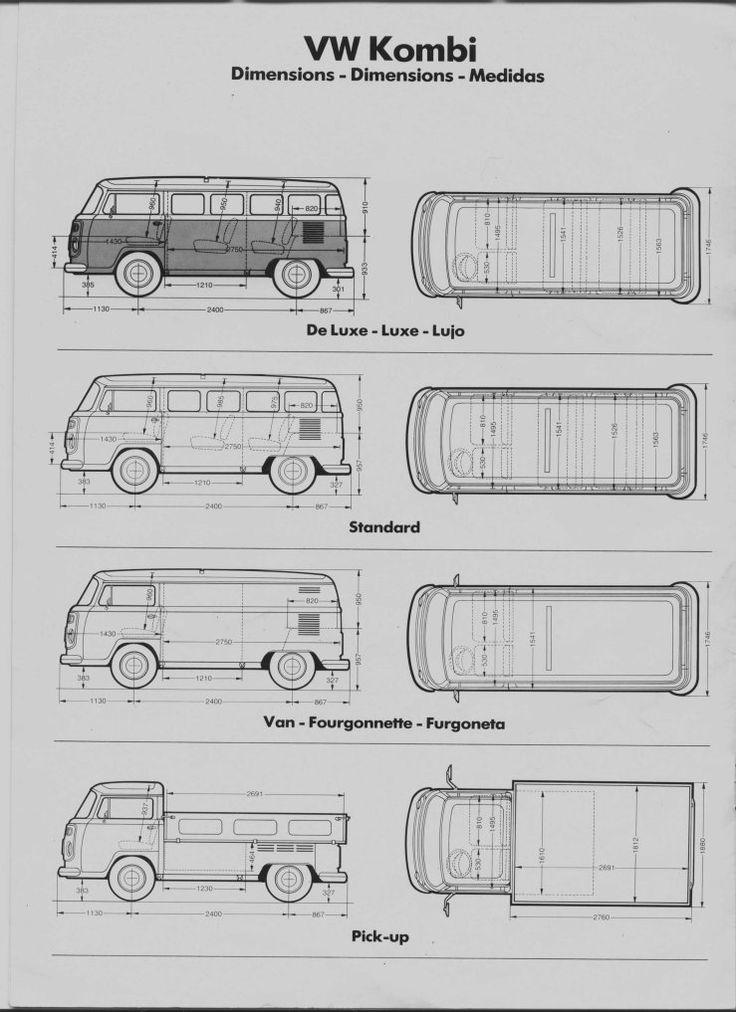 Vw t2 transporter blueprint google search kombi for Blueprint sizes
