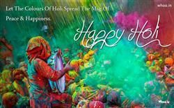 Happy Holi Greetings With Message Of Peace And Happiness, Happy Holly, Holly Greetings Cards And HD Wallpapers For Free Download