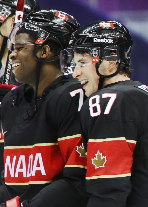 PK Subban and Sidney Crosby, Sochi 2014