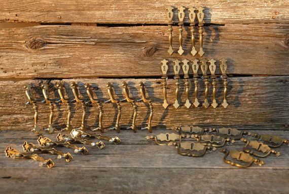 Vintage antique brass door handles vintage by CindysPrairieOutpost