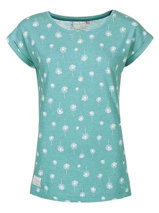 Brakeburn - Zelenomodré dámské tričko s chmýřím z pampelišek  Dandelion Boyfriend - 1