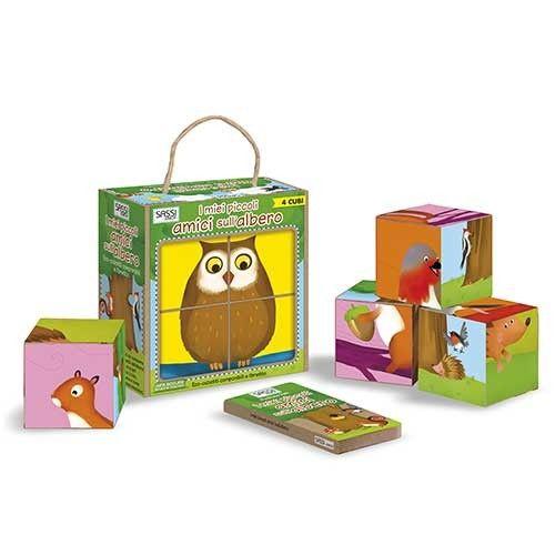 """Eco cubotti """"I miei piccoli amici sull'albero"""" Sassi Junior (SA00143), Regali di Natale Naturetica"""