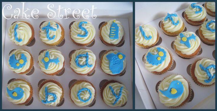 Baby Boy Cupcakes!