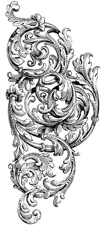 victorian scroll clip art