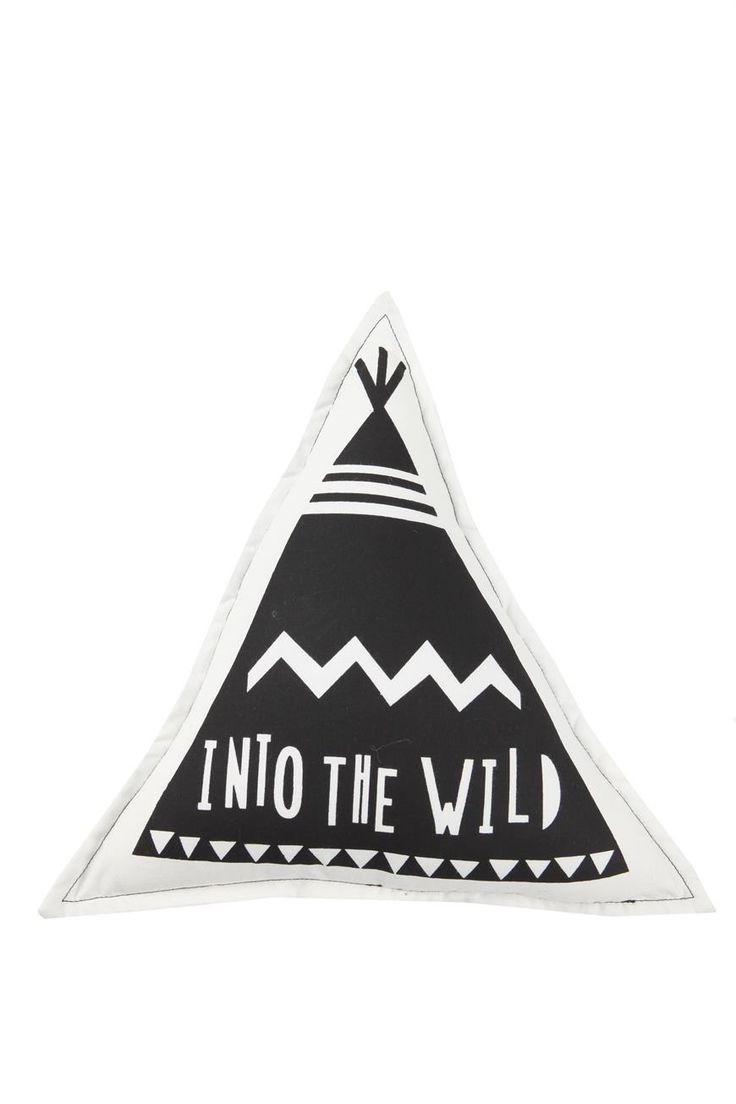 Into the wild exactly where adventure awaits. Our little teepee cushion will inspire the imagination of all those wild ones out there. 32cm x 32cm 100% cotton outer