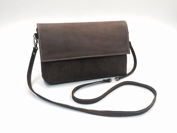 Leather hand crafted shoulder bag Sasha Crafts