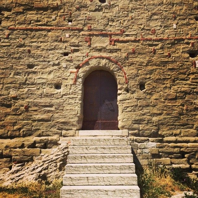 An entrance to a tower in San Leo