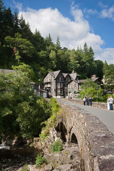 Pont-y-Pair Bridge, Betws-y-Coed, north Wales.