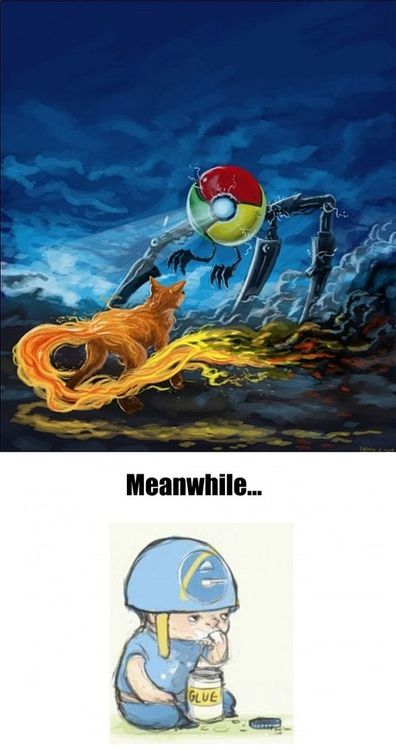 the epic battle, and then there's internet explorer...