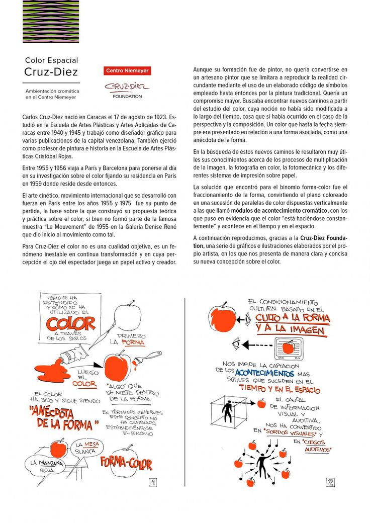 Guía didáctica: Color Espacial Cruz-Diez. Ambientación cromática en el Centro Niemeyer