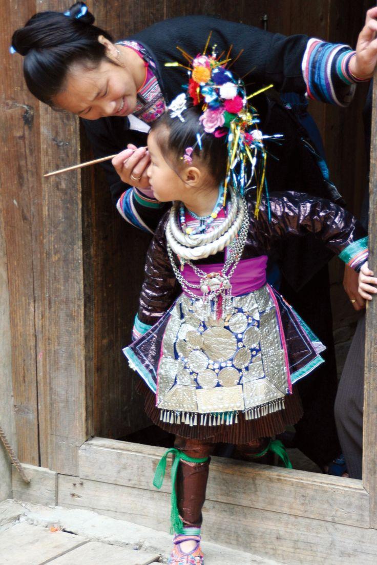 Guizhou woman and child Cultures Pinterest Girls