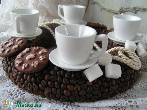Kávészemes adventi koszorú csészével (Krisztinavirag) - Meska.hu