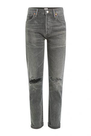 Citizens of Humanity Citizens of Humanity Cropped-Jeans im Distressed-Look…