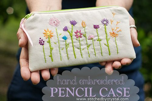 Tutorial: Hand Embroidered Pencil Case