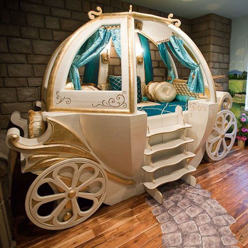 Home Furnishings:  A Gilded Fantasy #Bedroom Coach, from PoshTots, and other fantasy bedrooms for children.