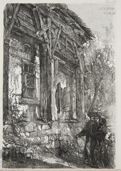 Drewniane domy w Wiśniczu - Wiązania podpory dachowej