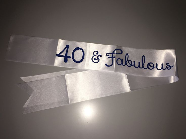 40th birthday sash , 40th birthday gift , 40 and fabulous gift  , 40 and Fabulous , Happy 40th Birthday Sash , Personalized Birthday Sash by personaliseddiamante on Etsy