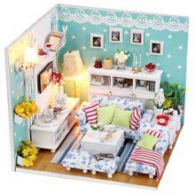 Mini Puppenhaus DIY Modell Möbel Mit Licht Holz Schöne Hohe Qualität  V1079(China (Mainland