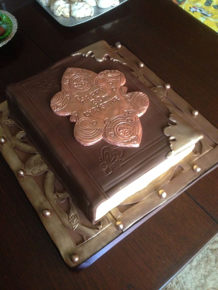 Book cake for my lovely mother-in-law's 80th. Based on a time lord book I saw in a Dr Who episode.