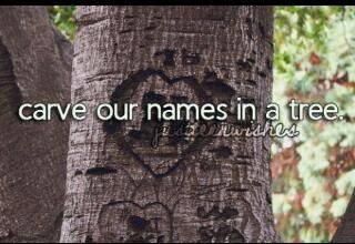 Carve our names in a tree