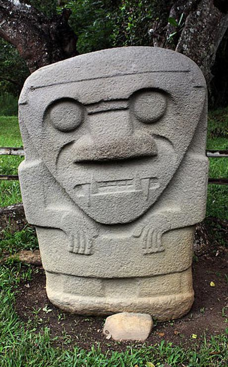 The world's largest necropolis, filled with gods, mythical animals, and heroes, rests in the southwestern Andes of Colombia, with the largest collection of religious monuments and megalithic sculptures found at the San Agustín Archaeological Park. Between 3300 BC and 600 BC, agriculture had not been introduced in the area of San Agustín, yet the society that inhabited this area possessed rudimentary stone technology consisting of basalt chips.