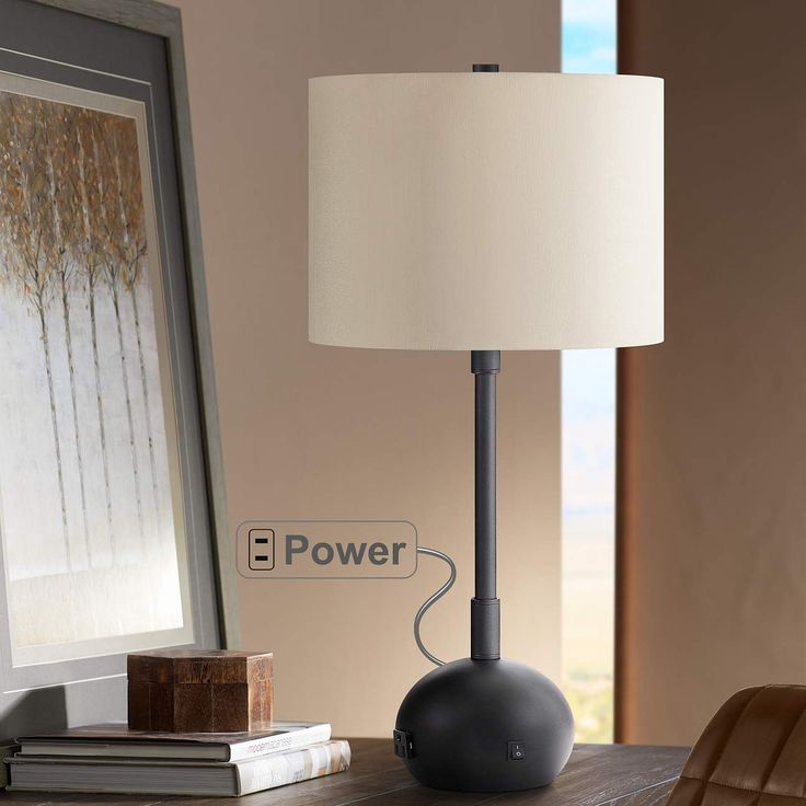 Lola Oil Rubbed Bronze Table Lamp With Base Utility Plug 68d35 Lamps Plus Bronze Table Lamp Table Lamp Lamp