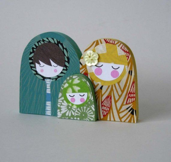 nesting dolls...these are wood but could easily be interpreted in fabric