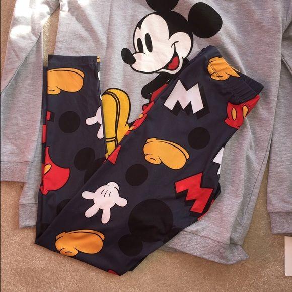 NWT Mickey Mouse leggings NWT Mickey Mouse leggings. Polyester/spandex. Disney Pants Leggings