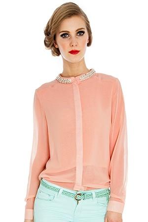 Apricot blouse