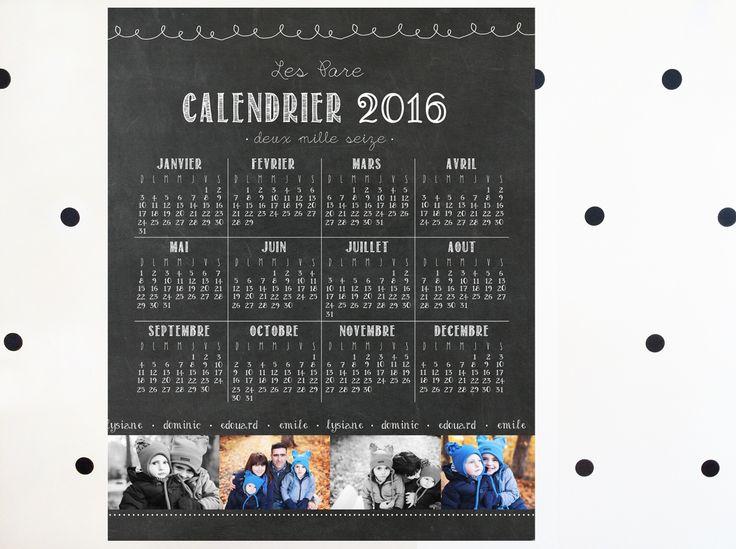 17 meilleures id es propos de calendrier personnalis 2016 sur pinterest cahier personnalis. Black Bedroom Furniture Sets. Home Design Ideas