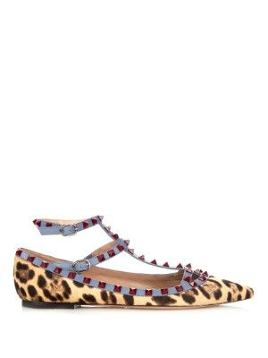 I really really really want these Valentino flats. Studs, leopard print and divine detail!