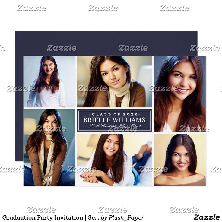 Graduation Party Invitation Senior Photo Collage