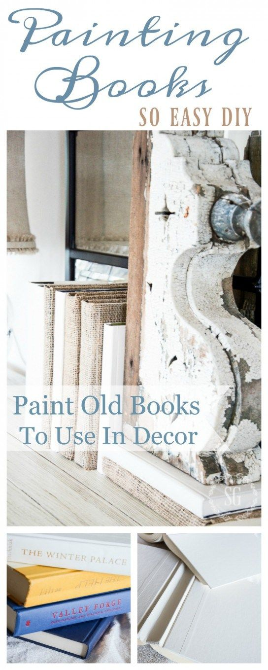 PAINTED BOOKS DIY- An easy way to change the color of book to work with your decor!