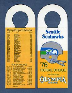 1976 Seattle Seahawks football schedule