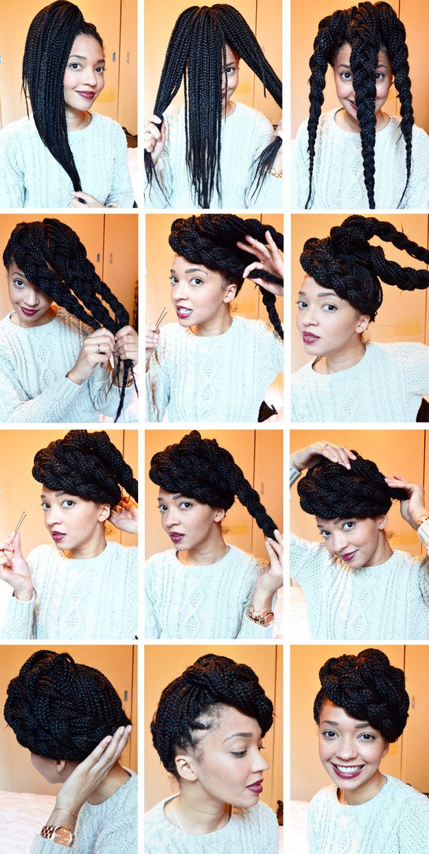 Side Swept Braids | 21 Awesome Ways To Style Your Box Braids And Locs