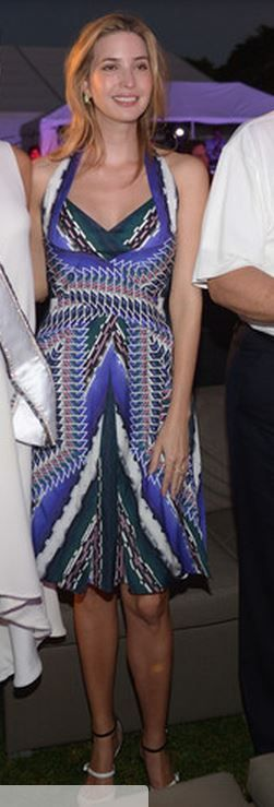Who made Ivanka Trump's blue print dress that she wore in Doral on March 8, 2014?