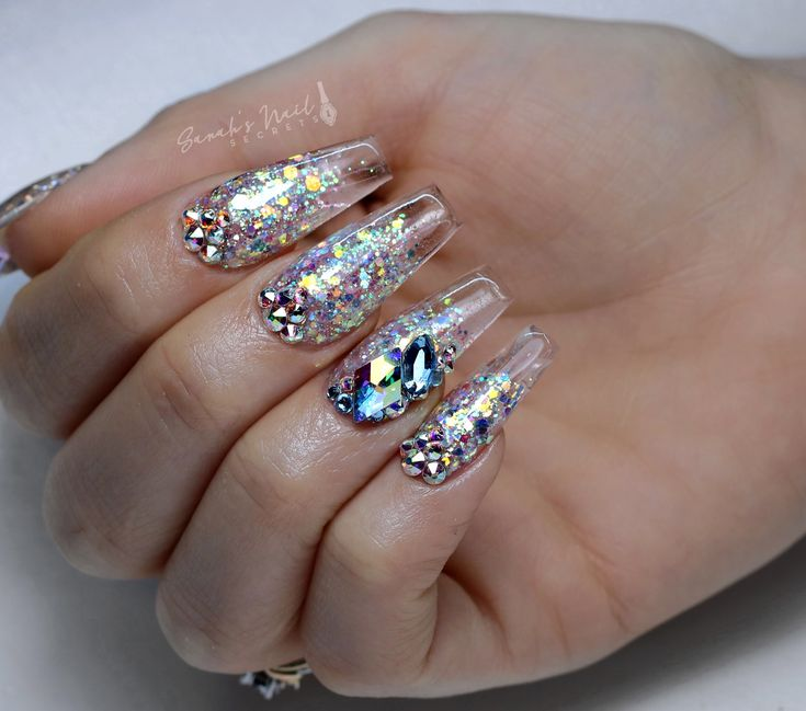 Clear Glass Acrylic Nails YouTube