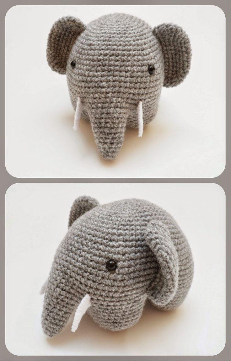 Patrón Amigurumi Elefante en crochet