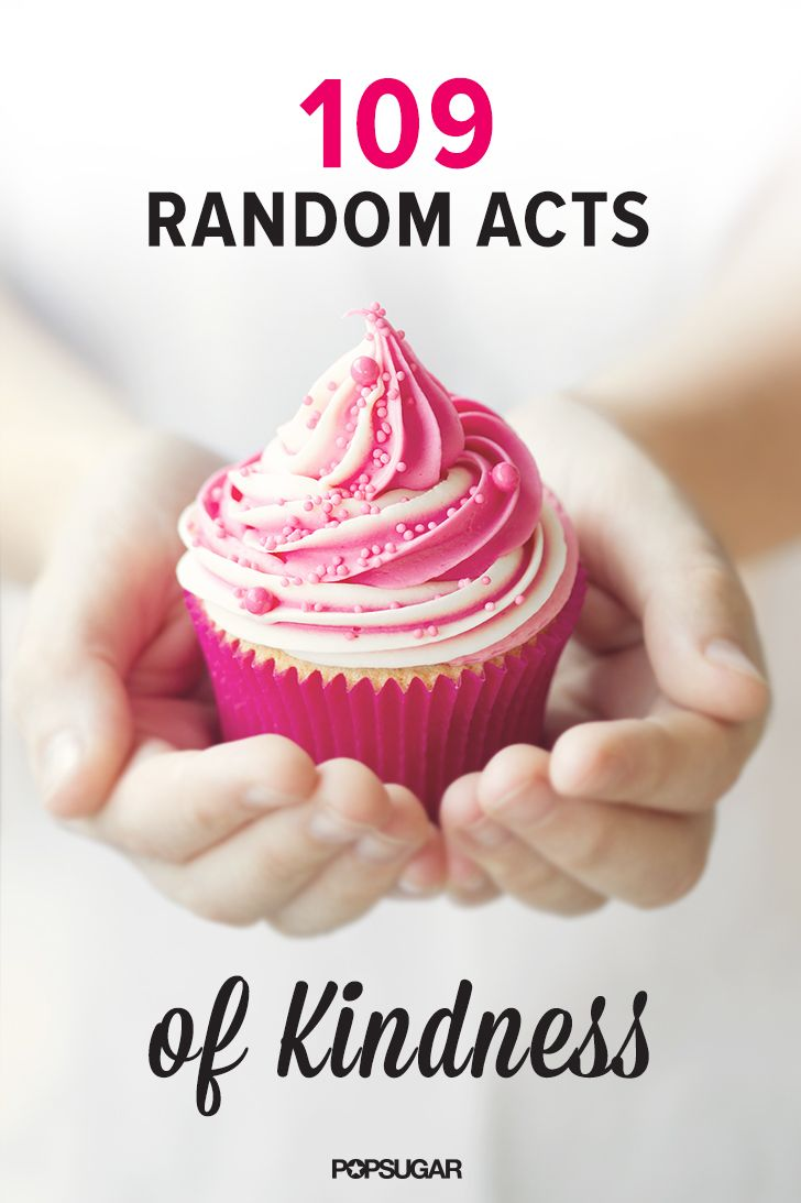 A small gesture of kindness can not only make someone else's entire day, but it can also make you feel good. So why not spread the love and try a random act of kindness today?