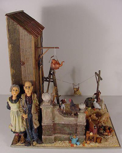 Barn Yard Scene 1:12 Scale Miniature | Barn Yard Scene, 1:12… | Flickr - Photo Sharing!